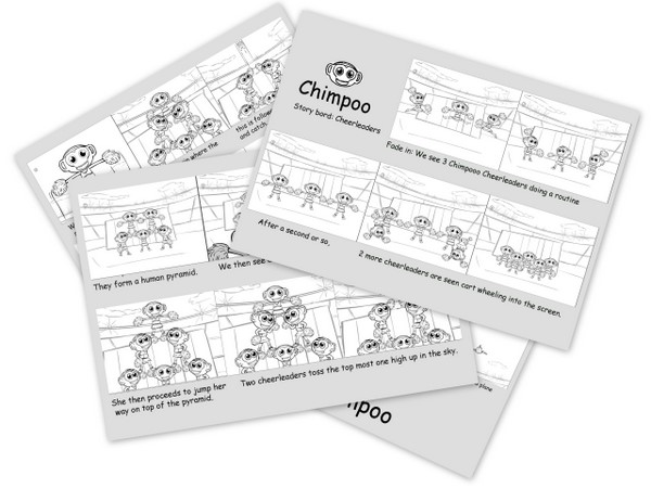 Chimpoo Animation & Film Design - Storyboard by No Formulae