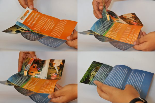 IFMR Flyer Folding - Rural Banking Communication Design by No Formulae