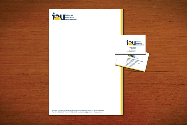 No Formulae Branding IAU Industries Association of Uttarakhand Design